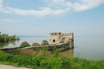 Tower of Serbian fortification on Danube