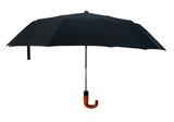 Black open gentleman umbrella cutout poster