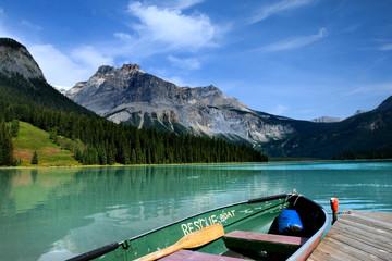 Emerald lake in Yoho national park, Canadian Rockies