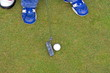 Detail of playing golf.