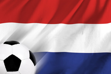 Soccer ball and Netherland flag