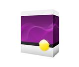 purple software box poster