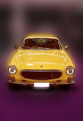 Yellow oldtimer car