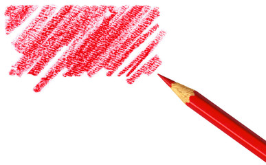 Pen with scribbles on white background with clipping path.