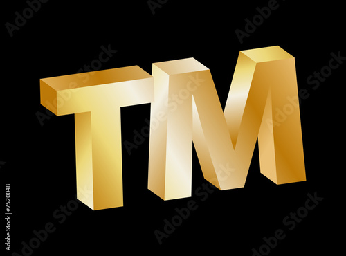 Trademark Symbol (golden)