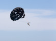 Man Parasailing with Black Parachute
