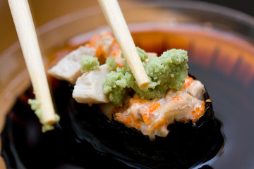 taking sushi (chicken)