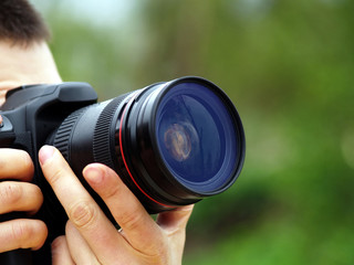 photographer shots with SLR camera