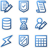 Database icons, blue contour series poster