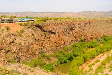 Desert Railroad Train
