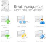 e-mail a řízení 2 - ovládací panel sada ikon