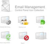 správu e-mailu - ovládací panel nastavit ikonu