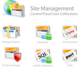 site management - control panel icon set
