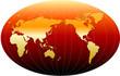Detaily fotografie mapa světa - červená verze