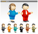 Business People on the Phone - officico icon set poster