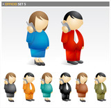 Business people - officio icon set poster