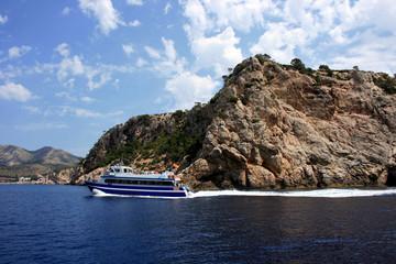 Bootsausflug vor der Westküste von Mallorca