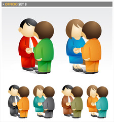 Business People Shaking Hands - officio icon set