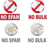 anti spam and anti bulk email icon poster