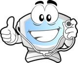 Fototapety computer mascot - doctor