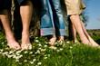 Fußgesundheit: in einer Reihe