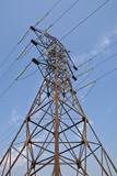 Power transmission pole poster