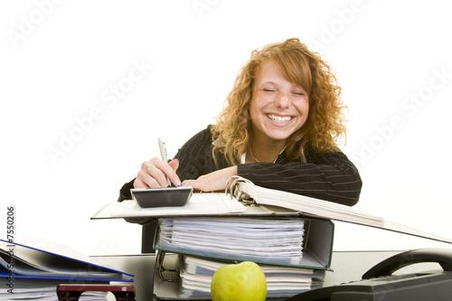 Usmála se na práci