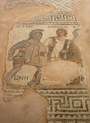Cyprus - The Gladiator Mosaic at Curium