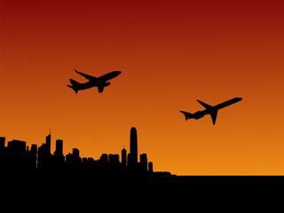 planes departing Hong Kong
