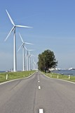 Typically dutch: windmills, countryroad and water