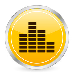 equalizer yellow circle icon