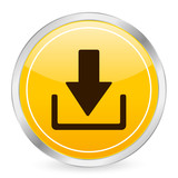 download yellow circle icon poster