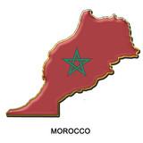 Morocco metal pin badge poster