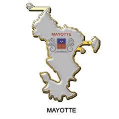Mayotte metal pin badge