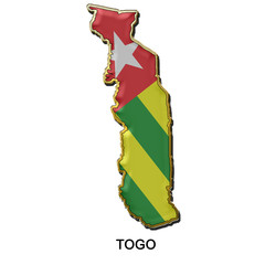 Togo metal pin badge