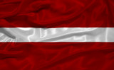 Latvia Flag 3 poster