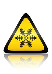 Symbole de danger neige (reflet métal)