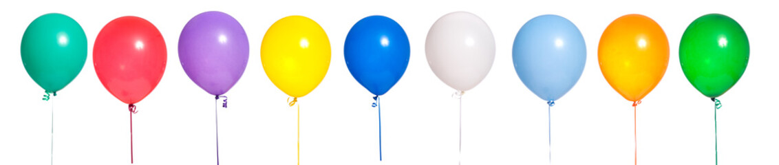 Party Balloons on white