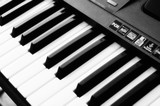 Electronic piano keyboard with selecive focus and diffuse filter poster
