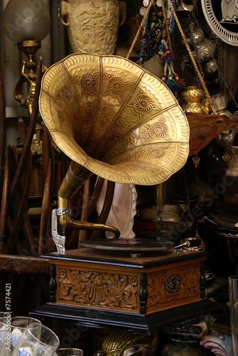 Leinwanddruck Bild Altes Grammophon