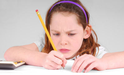 Girl Concentrating