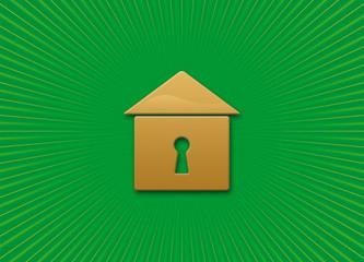Casa verde e oro