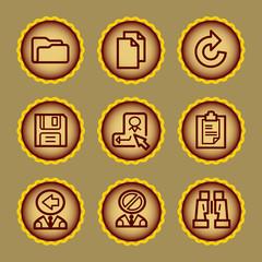 Brown contour web icons, set 3
