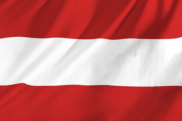 Austrian flag waving in the wind