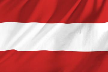 Austrian flag waving in the wind