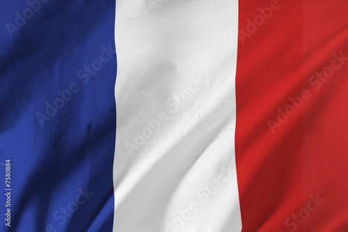 French flag waving in the wind
