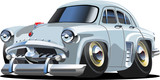 Vector cartoon retro car `Moskvich`