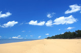 beach with beautiful cumulus poster