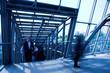 Blue metal corridor