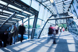 Fototapety Blue metal corridor